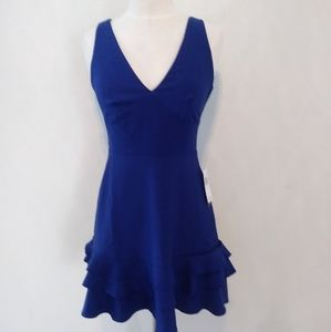 NWT Juniors Size 3/4 Royal Ruffled Social Dress